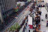 Hollywood Lunar New Year parade, aerial view