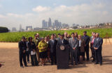 "Mayor Villaraigosa at ""Not a Cornfield"""