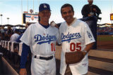 Antonio Villaraigosa and Jim Tracy, Dodger Stadium