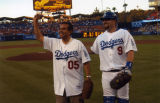 Antonio Villaraigosa and Jason Phillips, Dodger Stadium