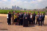 "Councilman Eric Garcetti at ""Not a Cornfield"""
