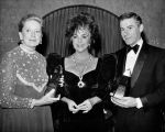 Deborah Kerr, Elizabeth Taylor and Roddy McDowall