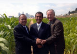 "Reyes, Villaraigosa, LaBonge at ""Not a Cornfield"""