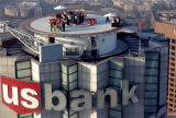 Rooftop party, U.S. Bank Tower