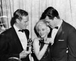 Charlton Heston and Marilyn Monroe