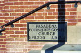Pasadena Foursquare Church cornerstone