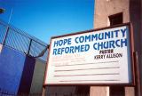 Hope Reformed Church marquee