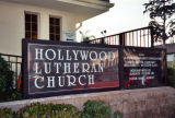 Hollywood Lutheran Church marquee