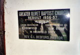 Greater Olivet Missionary Bapstist Church , cornerstone