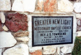 Greater New Light Missionary Baptist Church, 1st cornerstone