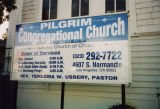 Pilgrim Congregational Church marquee