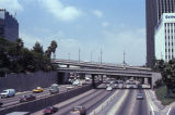 110 Freeway at Wilshire Boulevard