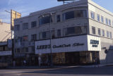 Commercial building and storefronts, Wilshire Boulevard