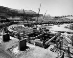 Dodger Stadium under construction