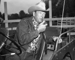 Rex Allen in jeep