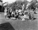 Ladies gathered on a lawn