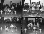 Children visiting the cemetery