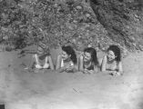 """Florentine Girls"" buried in sand, view 1"