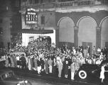 Crowds waiting outside the Biltmore Theater