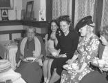 Helen Gahagan Douglas at campaign meeting