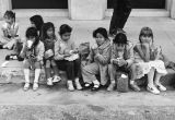 Children eating lunch