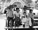 Children posing on Olvera Street
