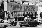Record albums on the Sunset Strip