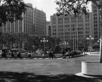 Seating area, Pershing Square