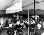 Raising of the flag, Rodger Young Village