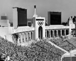 Peristyle end of Coliseum during Olympics