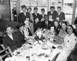 Red Cross workers hosted to luncheon