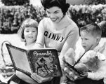 The Mickey Mouse Club's Ginny Tyler reads story to twins