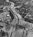 Hollywood Freeway extension, aerial view