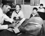 Children check in at hospital