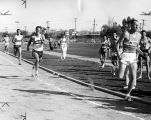 Fred Findlay shows way to tape for Reseda High in quarter mile