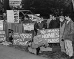 Veterans' housing protest