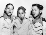 Trio of boys singing