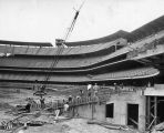 Chavez Ravine under construction