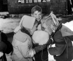 Children eating snow