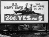 Navy election billboard