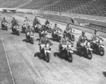 Police motorcycle drill team