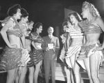 Earl Carroll with some of his chorus girls