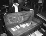 Sgt. Kapic displays gambling equipment