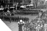 Parade at end of WW I