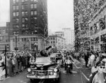 Stevenson in Los Angeles ticker tape parade