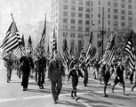 Boy Scouts march in Armistice Day parade