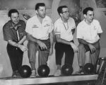 Men bowlers, group photo