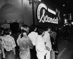 Crowd of club-goers outside of Scandals in Hollywood