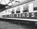 Santa Fe Railway advertises war bonds