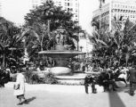 Pershing Square fountain